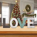 Letras de madera 'HOME', letras de madera decorativas vintage 'HOME', versión de pie en 3D Letras de madera grandes para manualidades de bricolaje Regalo de boda de inauguración de la casa (LOVE)