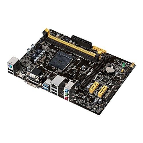 Asus AM1M-A Mainboard Sockel AM1 (µATX, 2x DDR3 Speicher, 2x SATA 6Gb/s, 2x USB 3.0, 4x USB 2.0, PCIe 2.0)