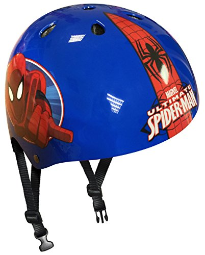 STAMP Boys Spiderman jongens skateboard-helm, blauw, 54/60 cm