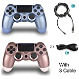 2 Pack Controller for PS4 with 3 Cable,Wireless...