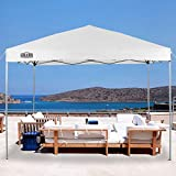 LAKE & TRAIL 10'x10' Striaght Leg UV Block Sun Shade Canopy with Hardware Kits, Shade for Patio Outdoor Garden Events, White