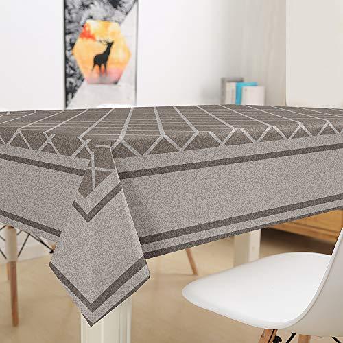 Himlaya Rectangular Manteles Mesa, 3D Clásico impresión Impermeable Manteles, Mantelerias Antimanchas Lavable, Decoracion Mantel de Mesa, para Cocina Salón Comedor (Café,140x140cm)