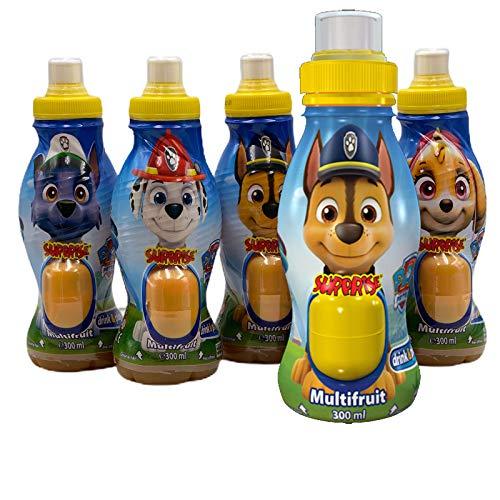Paw Patrol Surprise Drink Multifrucht Nektar 5 Stk. mit Überraschungsfigur (1,5 l) - Ideal als Mitgebsel für den Kindergeburtstag