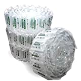 340 Count Industrial Air Pillows 6.5 Cu Ft 39 Gal Green Eco Friendly 8x4 inch Void Fill Cu...