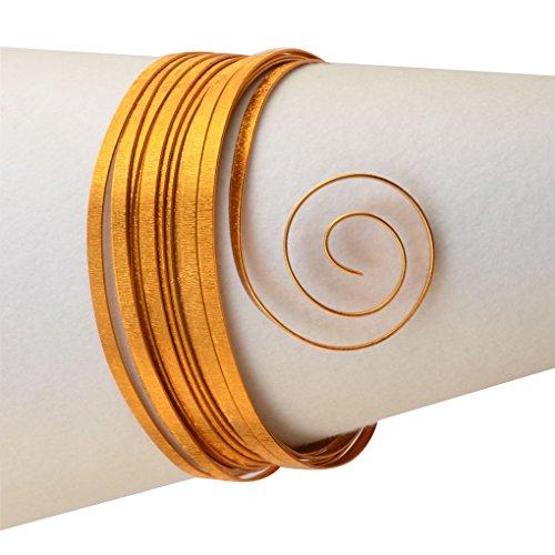 Vaessen Creative - Filo Metallico di Alluminio con goffratura Piatta, 5 x 1 mm, 5 m Zafferano Arancione