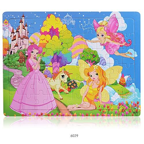 Houten puzzel 2 jaar en ouder Cartoon prinses Houten legpuzzels Educatief speelgoed voor Preschool Kids voor jongens en meisjes cadeau 22.5 * 30 * 0.5 cm