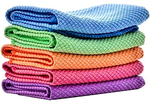SIMFA Microfiber Cleaning Cloth Extra Soft and Absorbent Size 15.8 x 15.8 inches Extra Durable...