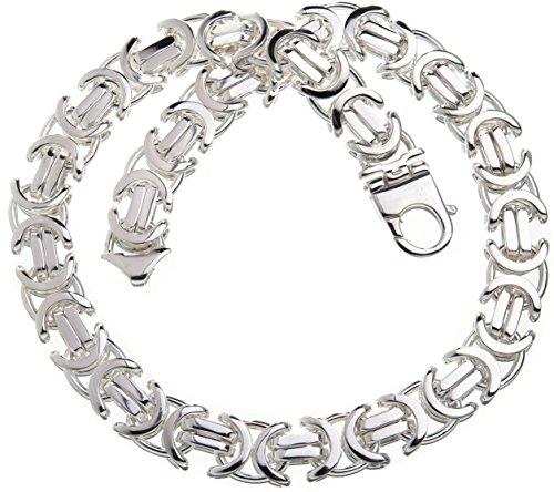 Flache Königskette 17mm - massiv 925 Silber, Länge 50cm