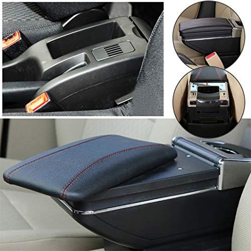 Handao-US Reposabrazos para Peugeot 307 2004-2013,Clásica Edición,Reposabrazos de Confort Conciso Caja de Almacenamiento(Negro)