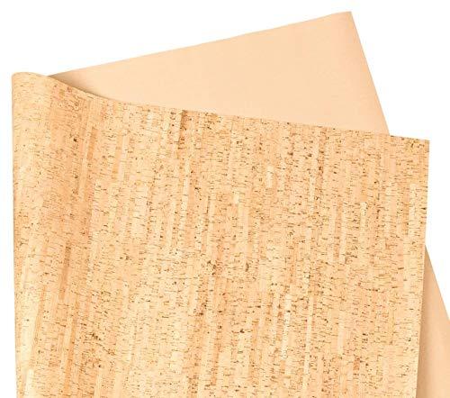 Kork-Deko in Sughero 70 cm di Larghezza. Colori e Decorazioni. da Cucire (Fai da Te), per Borse, Portafogli, Fai da Te e Decorazioni, Natur (Stripes), 70 x 100 cm