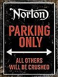 Norton Motorrad Parking Only Blechschild 20x 30cm Metall Motorrad Blechschild Wandschild