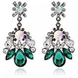 XingBeiBei Luxury Ultra-flash Full Gemstone Earrings with Large Drops of Water Earrings