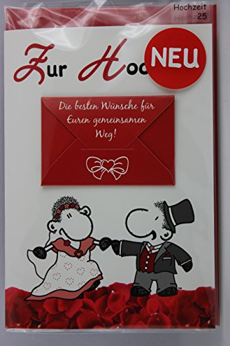 Sheepworld - 55467 - Stanzkarte, Klappkarte Nr. 25, Hochzeit, mit Umschlag, Zur Hochzeit Die besten Wünsche für Euren gemeinsamen Weg! Zwei Herzen ein Schlag