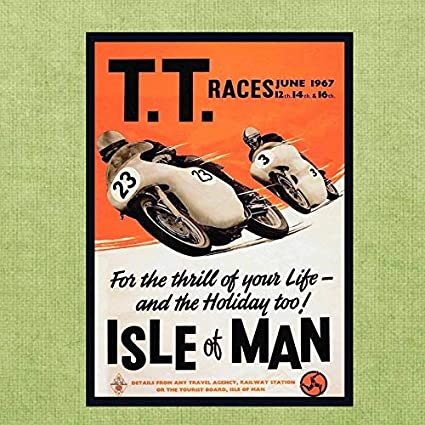PERSONALISED TT MOTORCYCLE DAD IOM  FATHER VINTAGE METAL SIGN RS43