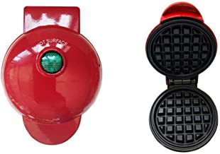 Mini Waffle Maker, 350W, Children's Pancake Machine, Double Non-Stick Coating Save Space, for Quick Breakfast, Burger, Pan...