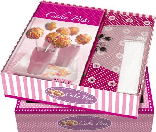 Buch-Box Cake Pops: Buch + Sticks, Halter & Spritzbeutel mit 4 Tüllen