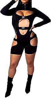 Women's Bodycon Bag Buckle High Neck Long Sleeves Sexy...
