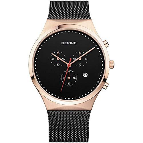 Bering Herren Chronograph Quarz Uhr mit Edelstahl Armband 14740-166