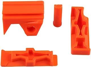 WORKER Mod Front and Side Rail Adapter Picatinny Base Set for Nerf Stryfe Color Orange
