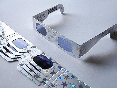 5 Stück HoloSpex 3D Brille Star, 5-Stern, Weihnachten (Happy Eyes, Holiday Specs) / Weihnachtsbrille, Effektbrille, Partybrille, Spaßbrille