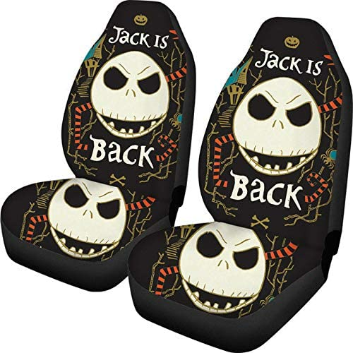 Car Seat Cover Jack The Nightmare Before Christmas Design Fit Most Vehicle Universal Car Front Seat Covers Fashion 47.5 75.5 49.5cm 2