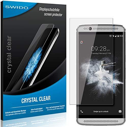 SWIDO Bildschirmschutzfolie für ZTE Axon 7 Mini [3 Stück] Kristall-Klar, Extrem Kratzfest, Schutz vor Öl, Staub & Kratzer/Folie, Glasfolie, Bildschirmschutz, Schutzfolie, Panzerfolie