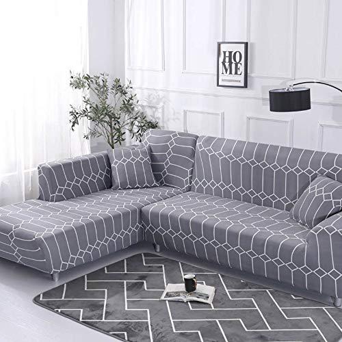 WXQY Patrón geométrico en Forma de L Funda de sofá Modular sofá Toalla Familia decoración antiincrustante Funda de sofá Todo Incluido A16 2 plazas