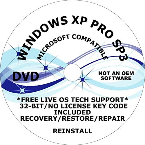 WINDOWS XP PRO SP3 LATEST UPDATES JUNE 2019 32 BIT DVD 1 FREE DO IT YOURSELF INSTALL VIDEO DVD product image