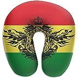 Marlon Kitty Bandera de Etiopía Espuma de Memoria en Forma de U Avión Almohada de Vuelo para automóvil Almohada para la Cabeza Transpirable y cómoda con Cabeza Completa