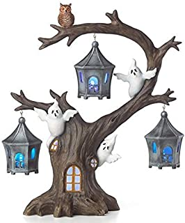 Lenox Halloween A Ghostly Ghoulish Halloween Lighted Tree with Ghosts and Owl 12