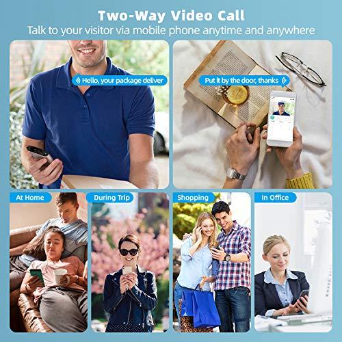 Sonnette vidéo sans fil AWOW avec Caméra 1080P HD, Étanche, Vision Nocturne 2