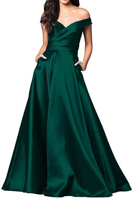 TTdamai Deep VNeck Backless Prom Evening Dress for Women ALine Satin Formal Gown