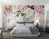Fototapete Schöne Pfingstrose Blume Moderne 3D Art Deco Wand Poster Bild Wohnzimmer Schlafzimmer Büro Restaurant 400cm(W) x280cm(H)-8 Stripes