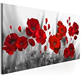 decomonkey Bilder Blumen Mohnblumen rot 100x45 cm 1 Teilig