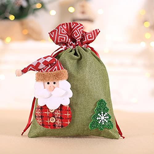 zunruishop Navidad en Secreto Bolsa de Caramelo Árbol de Navidad Ornamentos Colgantes Niños Ropa de Cama Boca Bolsa de Aleapple Bolsa de Navidad Bolsa de Regalo Bolsas de Regalo de Papel de Nav