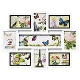 Acan Marco para Fotos de Pared múltiple, decoración del hogar. Multimarco portafotos de PVC (9 Fotos, Blanco)