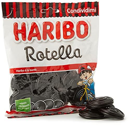 Haribo Rotella Caramelle Morbide Gommose, Gusto Liquirizia, 175g