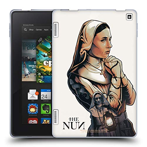 Head Case Designs Officially Licensed The Nun Pray 2 Valak Graphics Soft Gel Case Compatible with Amazon Fire HD 7