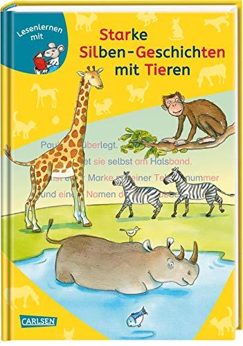 LESEMAUS zum Lesenlernen Sammelbände: Starke Silben-Geschichten mit Tieren zum Lesenlernen: Extra Lesetraining – Lesetexte mit farbiger Silbenmarkierung