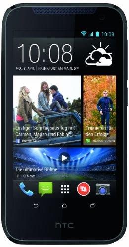 HTC Desire 310 Smartphone (11,4 cm (4,5 Zoll) FWVGA Bildschirm, Quad-Core, 1,3GHz, 1GB RAM, 5 Megapixel Kamera, Android 4.2) blau
