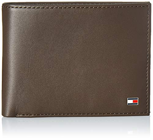 Tommy Hilfiger ETON CC AND COIN POCKET AM0AM00651 Herren Geldbörsen 14x10x2 cm (B x H x T), Braun (Brown 041)