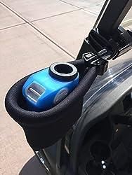 commercial Caddy Buddy Laser Rangefinder Golf Cart Holder / Bracket-Pocket Bracket (Black) golf rangefinder holder