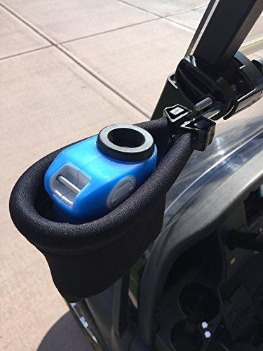 Caddie Buddy Laser Rangefinder Golf Cart Holder/Mount - Pouch Mount (Black)