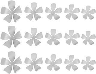 32.1/x 7/x 12/cm Ostaria Jasmin D/écoration Murale 15/pi/èces Blanc