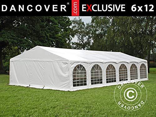 Dancover Partyzelt Pavillon Festzelt Exclusive 6x12m PVC, Arched, Weiß