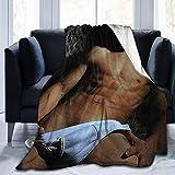 shenguang Jared Padalecki Super Sam Winchester Natural Jensen Ackles Dean Winchester Misha Collins Super Soft Blanket, Light Plush Bed Blanket, Suitable for Adults and Children to Use 50' x40