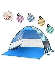 HAODE サンシェードテント 2-3人用 ワンタッチテント タープ テント 日除け シェルター 紫外線防止 設営簡単 折りたたみ 通気性抜