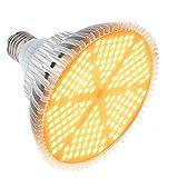 120W Lampada per Piante, 180LEDs Lampada da Coltivazione, E27 Luce Piante LED Spettro Completo, LED Grow Light Bulb per Piante da interno Serra Crescita, Fioritura e Fruttificazione