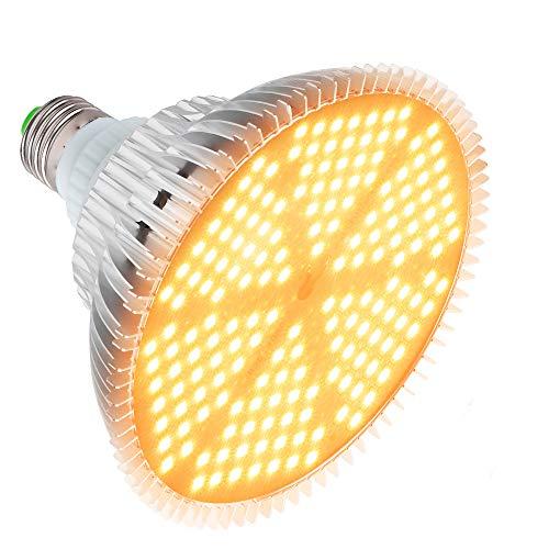 120W LED Grow Light Bulb, Sunlike Full Spectrum Plant Light Bulb 180 LEDs Grow Lamp for Indoor Plants Vegetables and Seedlings, E26/E27 Base Grow Light for Greenhouse, Organic Soil, Hydroponics