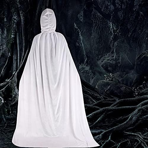 SOBW Abrigo con capucha unisex de terciopelo largo, disfraz de Halloween y Navidad, disfraz de caballero, mago, vampiro